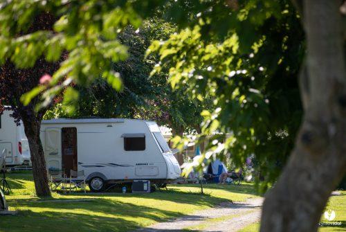 Camping-car a l'ombre